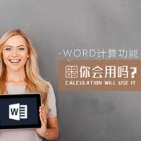 Word计算功能你会用吗_Word办公软件使用技巧视频教程