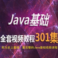 Java新手入门基础301集, 史上最全Java基础课程